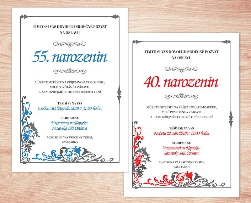 text na pozvánku k narozeninám Pozvánka na oslavu   květinová | Lepilova.cz text na pozvánku k narozeninám