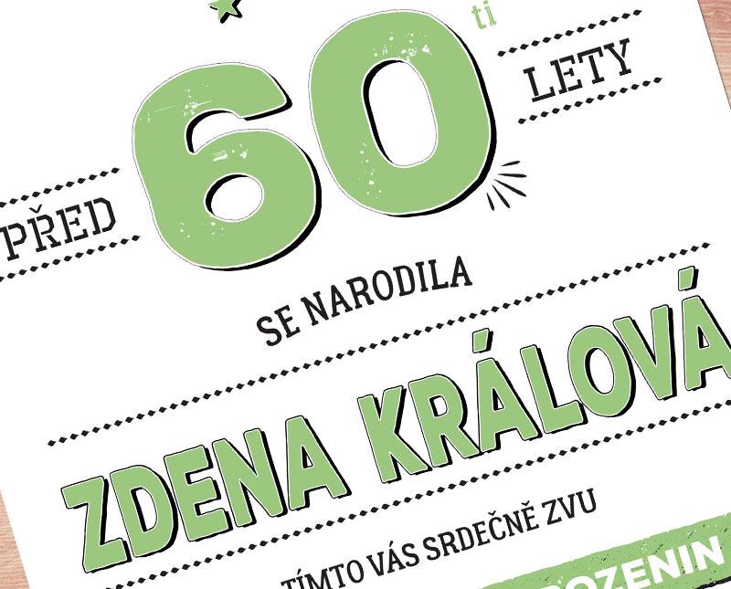 oslava 60 narozenin pozvánka Pozvánka na oslavu 60   text upravím na vaše přání | Lepilova.cz oslava 60 narozenin pozvánka