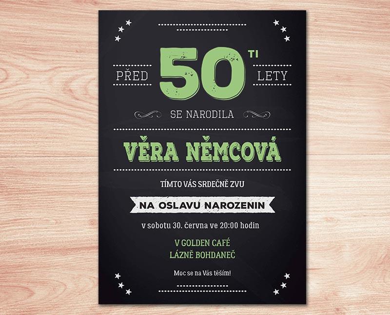 pozvánka na 50 narozeniny Pozvánka na oslavu 50. narozenin s texty na přání | Lepilova.cz pozvánka na 50 narozeniny