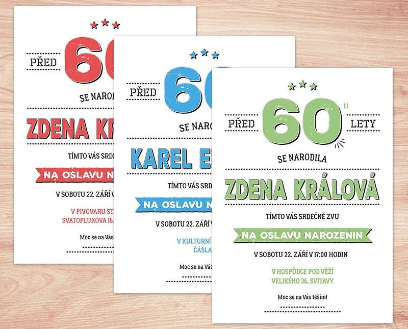 pozvánka k 60 narozeninám texty Pozvánka na oslavu 60   text upravím na vaše přání | Lepilova.cz pozvánka k 60 narozeninám texty