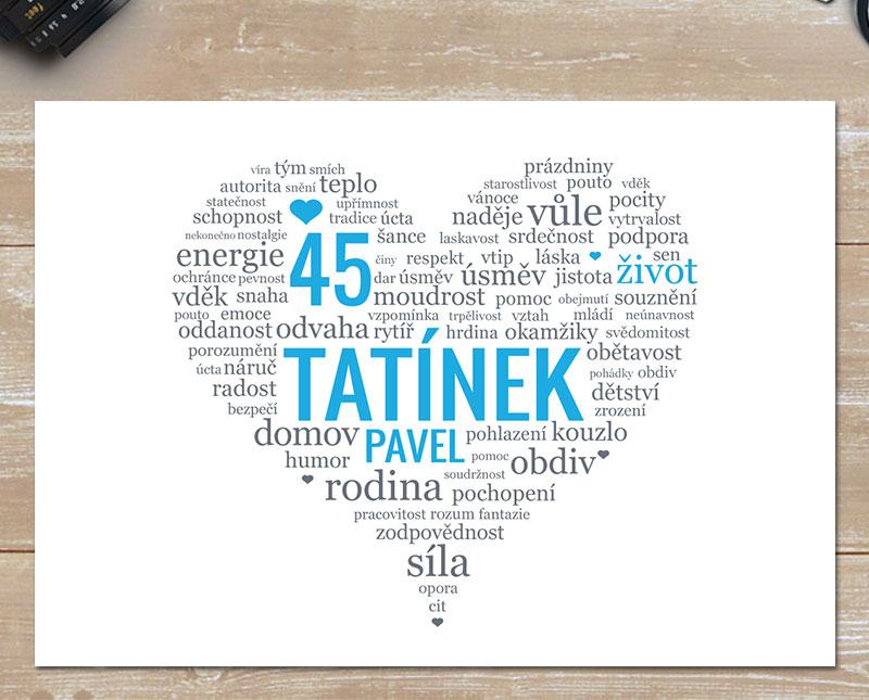 přání pro tatínka k narozeninám Dárek pro tátu   obrázek s milým textem, který potěší | Lepilova.cz přání pro tatínka k narozeninám