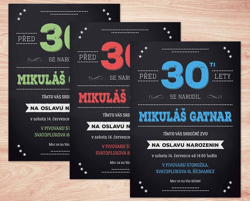 pozvánka na narozeniny 30 pozvánka na oslavu 30. narozenin s texty na přání | Lepilova.cz pozvánka na narozeniny 30