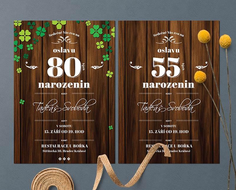pozvánka na narozeniny 80 Narozeninová pozvánka s čtyřlístky a nebo bez čtyřlístků  pozvánka na narozeniny 80