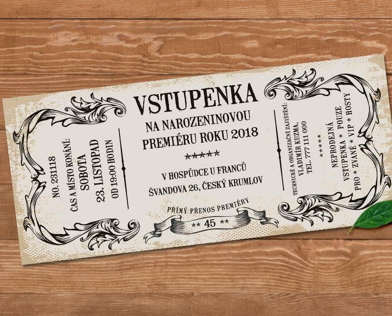 retro pozvánka na narozeniny Retro pozvánka na oslavu   vstupenka s vašim textem | Lepilova.cz retro pozvánka na narozeniny