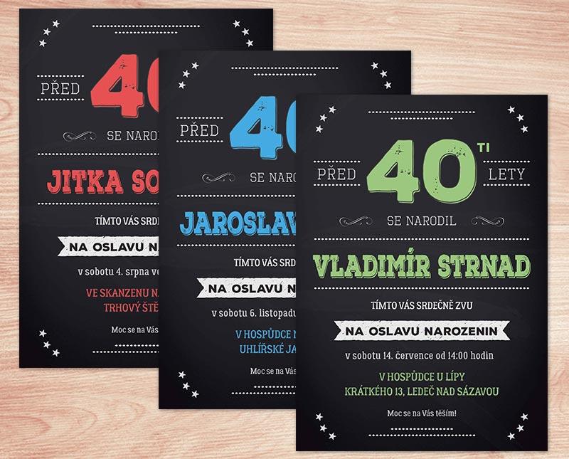 pozvánka na narozeniny 40 pozvánka na oslavu 40. narozenin s texty na přání | Lepilova.cz pozvánka na narozeniny 40